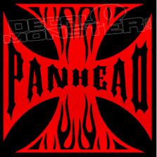 Panhead Iron Cross Motorcycle Decal Sticker