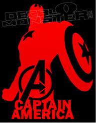 Captain America Silhouette Decal Sticker