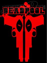 Deadpool Silhouette Decal Sticker