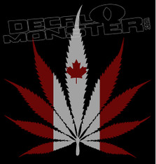 Canada Cannabis Leaf Flag Decal Sticker