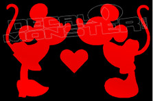 Mickey and Minnie Mouse Disney Love Decal Sticker