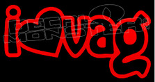 I Heart Love Vag Decal Sticker