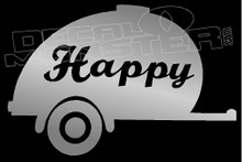 Happy Camper Silhouette 1 Decal Sticker