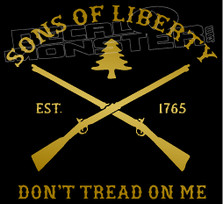 Sons of Liberty Don't Tread on Me Decal Sticker