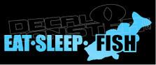 Eat Sleep Fish Silhouette 11 Decal Sticker