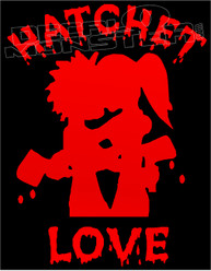 ICP Hatchet Love Silhouette 1 Decal Sticker