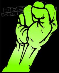 Iron Fist Silhouette 1 Decal Sticker