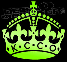 Keep Calm and Chive on Crown 13 Decal Sticker