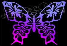 Hawaiian Butterfly Silhouette 33 Decal Sticker