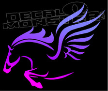 Mystical Winged Horse Silhouette 1 Decal Sticker