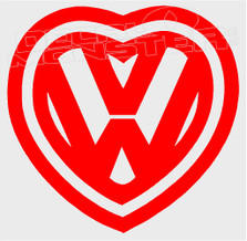 Volkswagen Love Heart 11 Decal Sticker