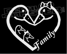 Duck Family Love Decal Sticker