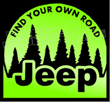Jeep Find your own Road Decal Sticker