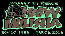 Braap In Peace Metal Mulisha Rider Memorial Decal Sticker