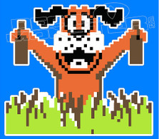 Beer Duck Hunt Dog Funny Decal Sticker