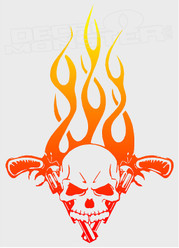 Skull and Guns Decal Sticker