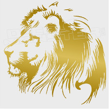 Lion with Mane Silhouette Decal Sticker