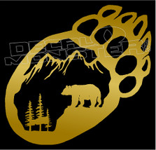 Grizzly Paw Mountain Scenery Decal Sticker