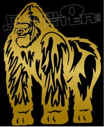 Humble Gorilla Silhouette Decal Sticker
