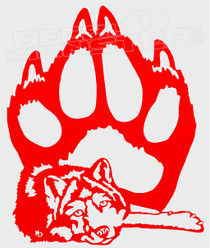 Wolf and Paw Decal Sticker