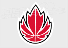 Canadian Basketball Decal Sticker