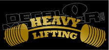 Heavy Lifting Weights Barbell Decal Sticker