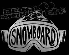 Snowboard Goggles Mountain Landscape Decal Sticker