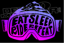 Eat Sleep Ride Repeat Decal Sticker