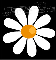 White Daisy Decal Sticker