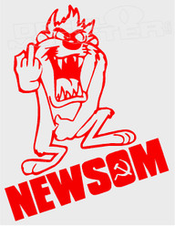 Tasmanian Devil Newsom Decal Sticker