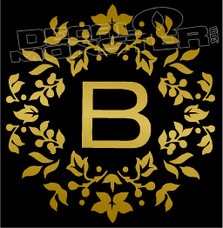 B Floral Decal Sticker