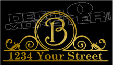 1234 Your Street Custom Text In Comments Decal Sticker
