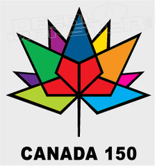 Canada 150 Special Maple Leaf Multi Color Vector Decal Sticker