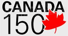 Canada 150 Standard Leaf Curve Decal Sticker