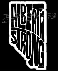 Alberta Strong Full Text in Province Decal Sticker