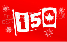 Canada 150 Flag Decal Sticker