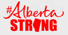 Alberta Strong Province Fitted In Text Decal Sticker
