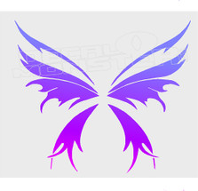 Exotic Tribal Butterfly Decal Sticker