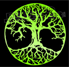 Circle of Life Tree Silhouette Decal Sticker