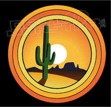 Arizona Cactus Desert Rings Decal Sticker