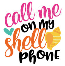 Beach Life Call me on my Shell Phone Hawaii Decal Sticker