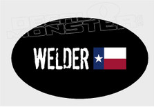 Texas Welder Custom Your Own Flag In Comments Decal Sticker