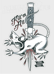 Kill Em All Rat Edition Decal Sticker