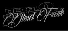 Diesel Freak Script Style Decal Sticker