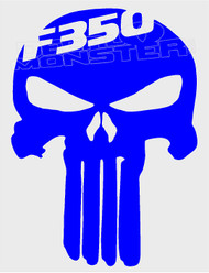 Ford F-350 Punisher Decal Sticker