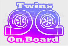 Turbo Twins on Boar Decal Sticker