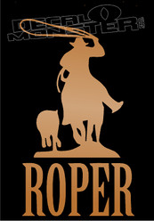 Steer Roper Rodeo Silhouette Decal Sticker