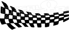 Checkered Racing Flag Style 1 Decal Sticker
