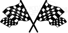 Checkered Racing Flags Style 3 Decal Sticker