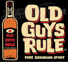 Old Guys Rule Canadian Spirit Drink Decal Sticker